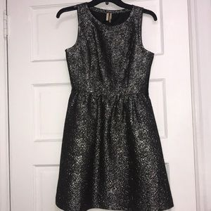 Frenchi Sleeveless Metallic Skater Dress